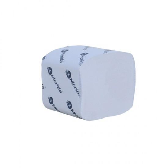 Papier toaletowy w listkach, dwuwarstwowy, makulaturowy MERIDA OPTIMUM