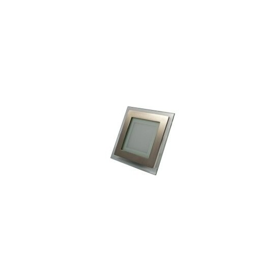 Panele sufitowe LED 6 W srebrne, kwadratowe