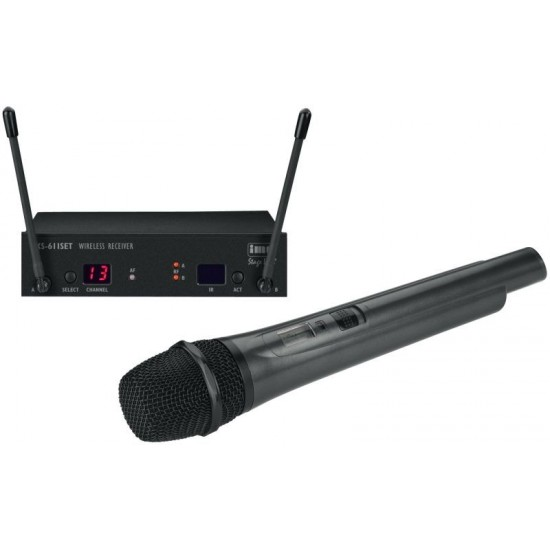 Wieloczęstotliwościowy zestaw mikrofonu bezprzewodowego TXS-611SET MONACOR