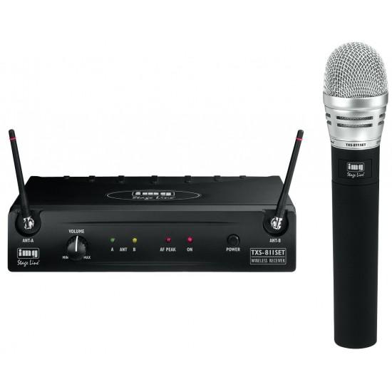 Wieloczęstotliwościowy zestaw mikrofonu bezprzewodowego TXS-811SET STAGE LINE