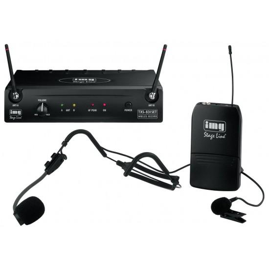 Wieloczęstotliwościowy zestaw bezprzewodowych mikrofonów TXS-831SET STAGE LINE