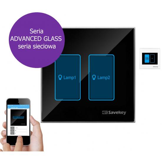 Włącznik dotykowy SaveKey ADVANCED GLASS CN-L2
