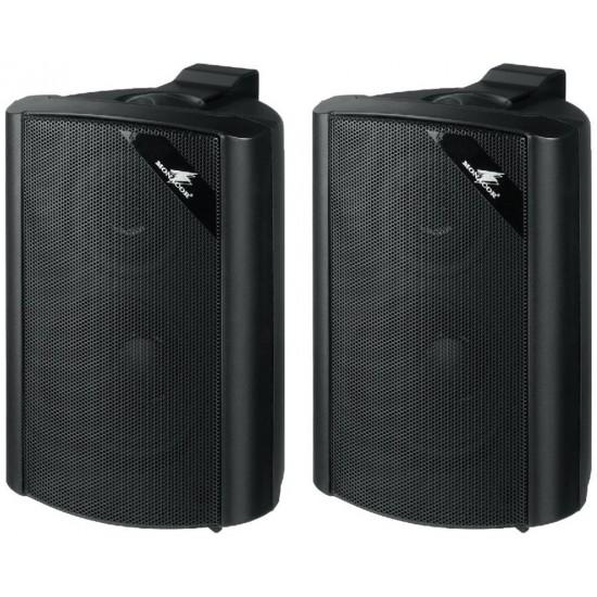 Para uniwersalnych głośników ściennych PA MONACOR EUL-30/SW, czarne