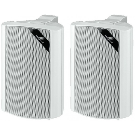 Para uniwersalnych głośników ściennych PA MONACOR EUL-30/WS, białe