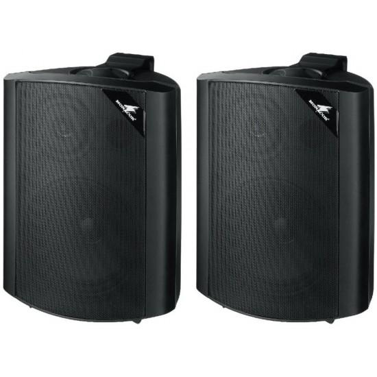 Para uniwersalnych głośników ściennych PA MONACOR EUL-60/SW, czarne