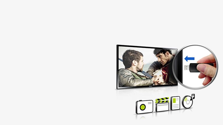 Funkcja Connect Share telewizora hotelowego Samsung HG24ED450