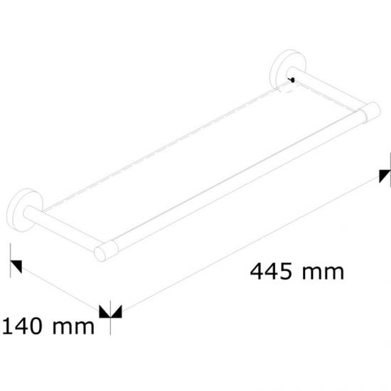 MHP03 - Półka szklana L400