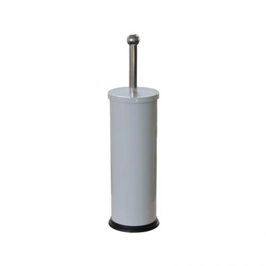 SZCZOTKA WC tuba stojąca, metalowa, biała