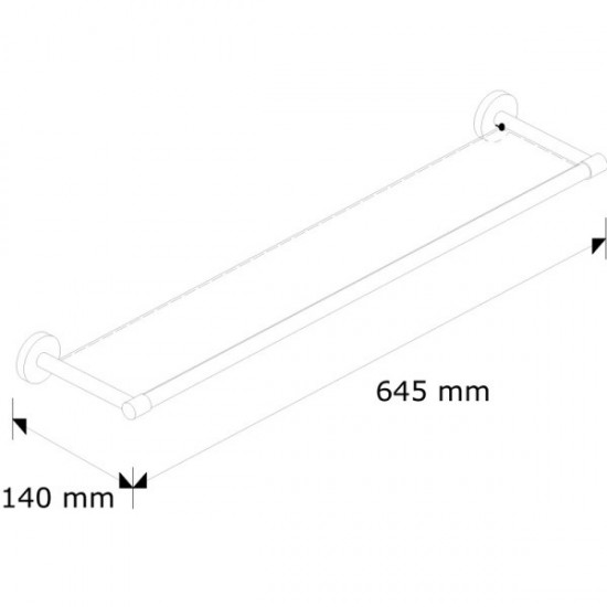 MHP01 - Półka szklana L600