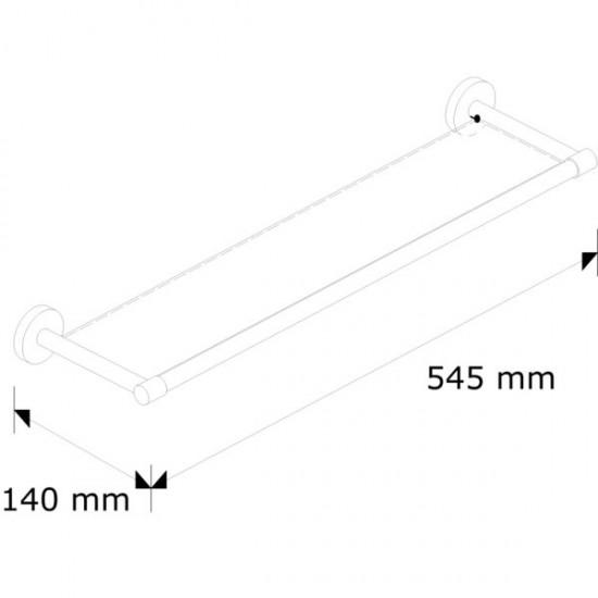 MHP02 - Półka szklana L500